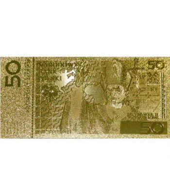 Billete de Polonia 50 zloty en oro de 24 kilates Juan Pablo II  - 1