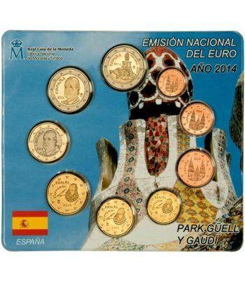 Cartera oficial euroset España 2014 + 2€ Park Güell.  - 2