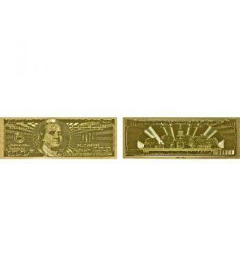 Colección 7 Billetes de Estados Unidos en oro de 24 kilates.  - 4
