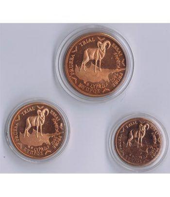 Euro prueba Chipre 1, 2 y 5 centimos de euro 2003  - 2