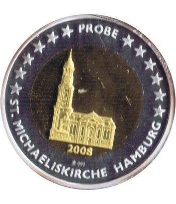 Euro prueba Alemania Hamburg 2 euros 2008.  - 1