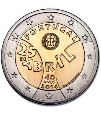 moneda conmemorativa 2 euros Portugal 2014. 25 de Abril.  - 2