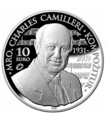 moneda Malta 10 Euros 2014. Charles Camilleri. Plata Proof  - 1