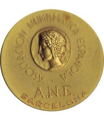Medalla Asoc. Numismatica Española. Bronce Dorado. Calicó.  - 1
