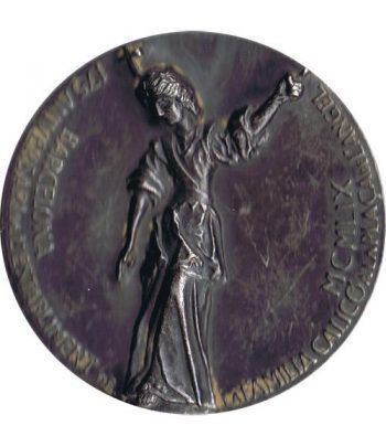 Medalla 175 Aniversario Numismática Calicó. Plata. Calicó  - 1
