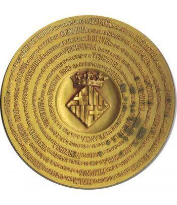 Medalla Fundación de Barcelona. Bronce dorado. Calicó.  - 1