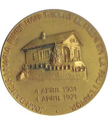 Medalla Premio en la Paz y el Amor. Bronce Dorado. Calicó.  - 1