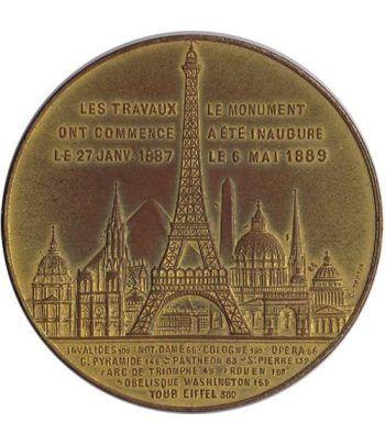Medalla Recuerdo Ascensión Torre Eiffel 1889.  - 1