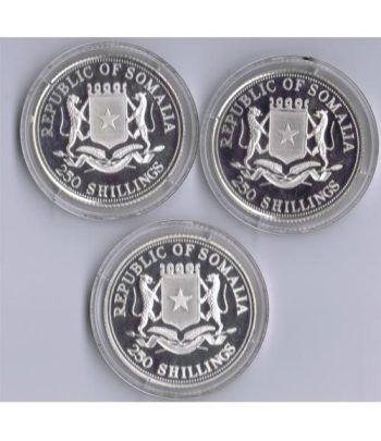 Monedas de plata 250 Shilling Somalia 1998 Bodas Reales (3)  - 2