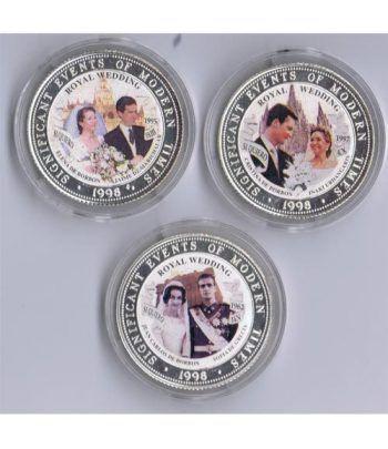 Monedas de plata 250 Shilling Somalia 1998 Bodas Reales (3)  - 4