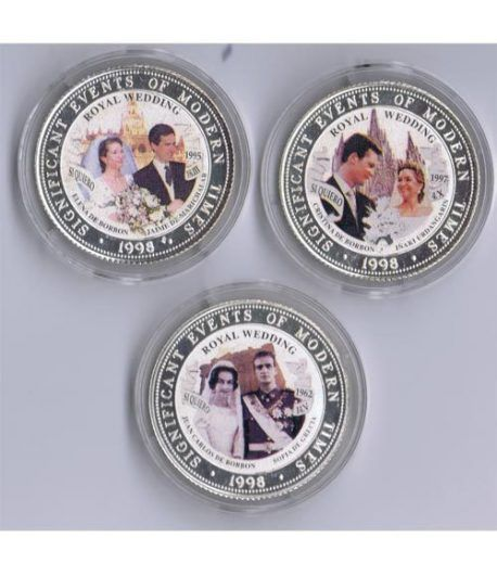 Monedas de plata 250 Shilling Somalia 1998 Bodas Reales (3)  - 1
