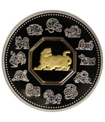 Canada 15$ (1998) Calendario Chino Tigre - Plata y Oro  - 2