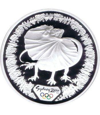 Moneda onza de plata 5$ Australia Sydney 2000. Lagarto. Estuche.  - 1