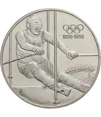Moneda de plata 200 schillings Austria 1995 Ski Slalom. Proof.  - 4