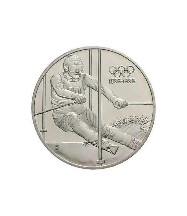 Moneda de plata 200 schillings Austria 1995 Ski Slalom. Proof.  - 1