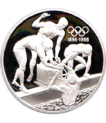 Moneda de plata 20 Dolares Australia 1993 Natación. Proof.  - 1