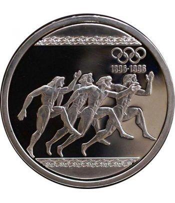 Moneda de plata 1000 Dracmas Grecia 1996 Corredores. Proof.  - 1