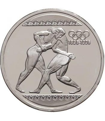 Moneda de plata 1000 Dracmas Grecia 1996 Luchadores. Proof.  - 1