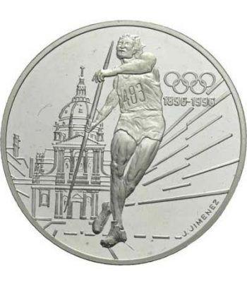 Moneda de plata 100 Francos Francia 1994 Jabalina. Proof.  - 1