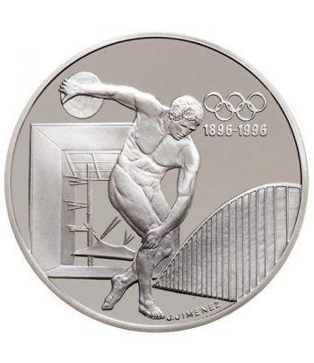 Moneda de plata 100 Francos Francia 1994 Discobolo. Proof.  - 1