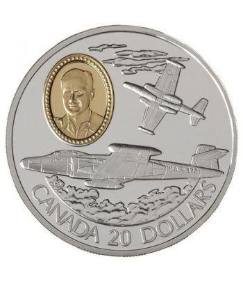 Canada 20$ 1995 Aviación. CF-100 Canuck. Plata.  - 1