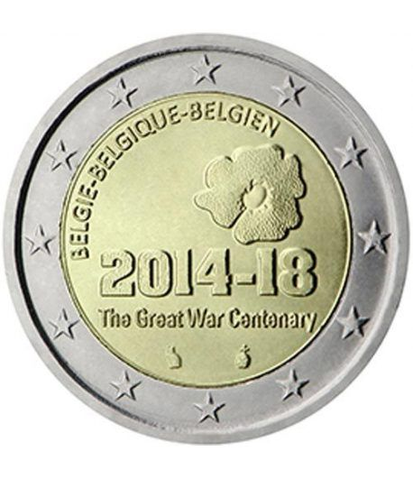 moneda conmemorativa 2 euros Belgica 2014 Gran Guerra.  - 2