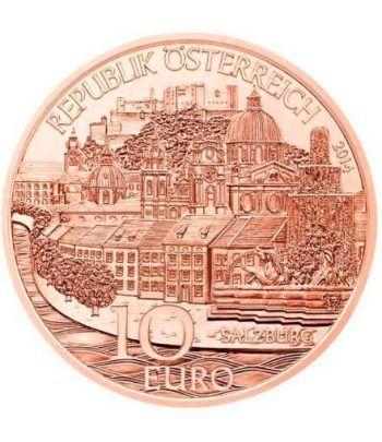 moneda Austria 10 Euros 2014 Salzburgo. Cobre.  - 1