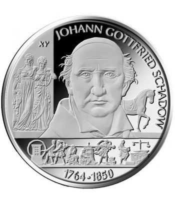 moneda Alemania 10 Euros 2014 A. Johann Gottfried.  - 1