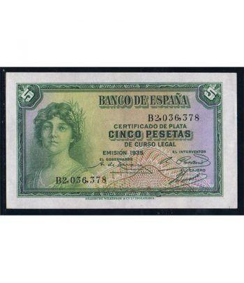 (1935) Banco de España. 5 Pesetas. EBC  - 4