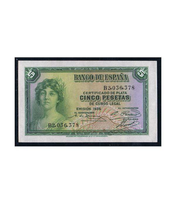 (1935) Banco de España. 5 Pesetas. EBC  - 1