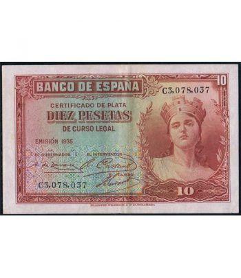 (1935) Banco de España. 10 Pesetas. EBC.  - 4
