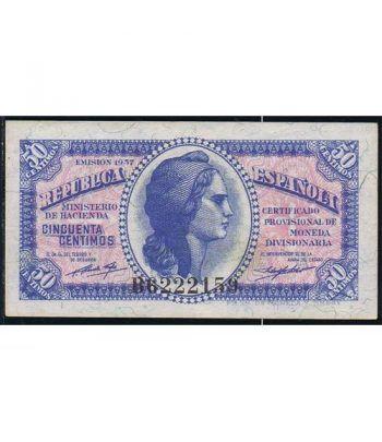 (1937) Republica Española 50 Céntimos. EBC.  - 4