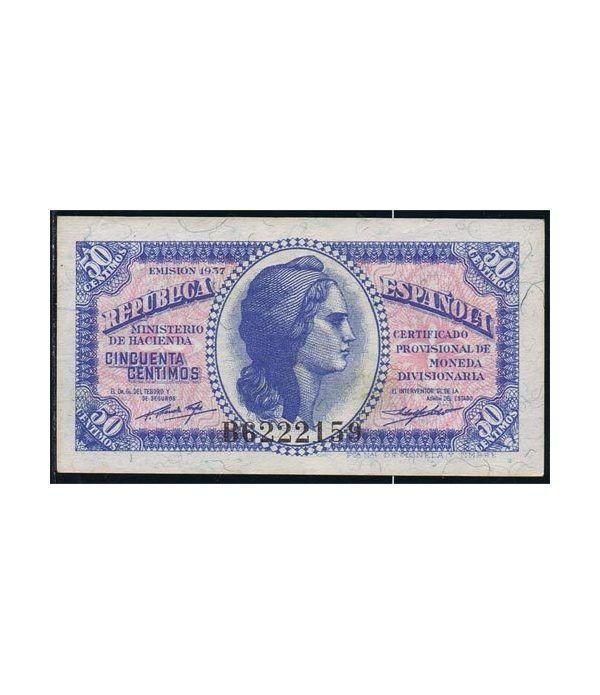 (1937) Republica Española 50 Céntimos. EBC.  - 1