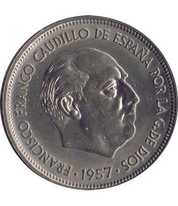 Moneda de España 50 Pesetas 1957 *19-58 Madrid SC  - 2