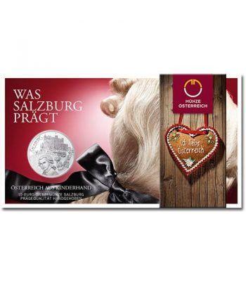 moneda Austria 10 Euros 2014 Salzburgo. Plata.  - 1