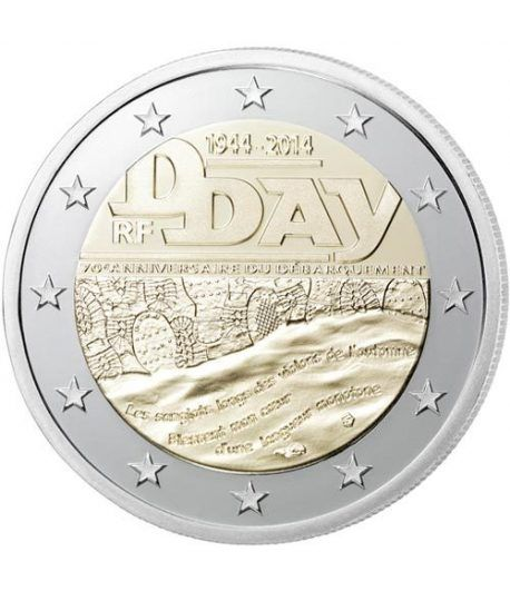 moneda conmemorativa 2 euros Francia 2014. Dia D.  - 2