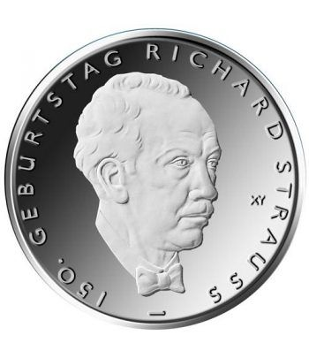 moneda Alemania 10 Euros 2014 D. Richard Strauss.  - 1