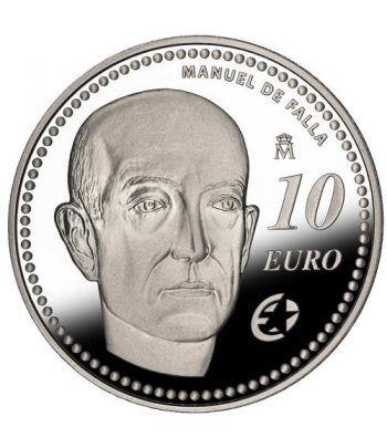Moneda 2014 Manuel de Falla. 10 euros. Plata  - 1