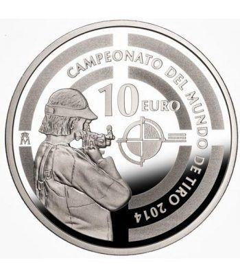 Moneda 2014 Campeonato Mundial de Tiro 2014. 10 euros. Plata.  - 1