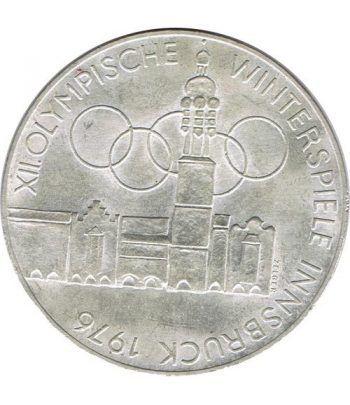 Moneda de plata 100 schilling Austria 1975 JJOO Innsbruck 1976.  - 4