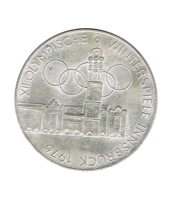 Moneda de plata 100 schilling Austria 1975 JJOO Innsbruck 1976.  - 1