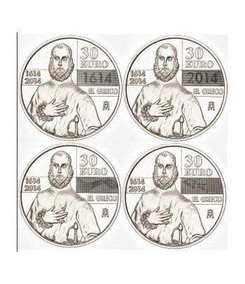 Moneda conmemorativa 30 euros 2014. IV Centenario de El Greco.  - 2
