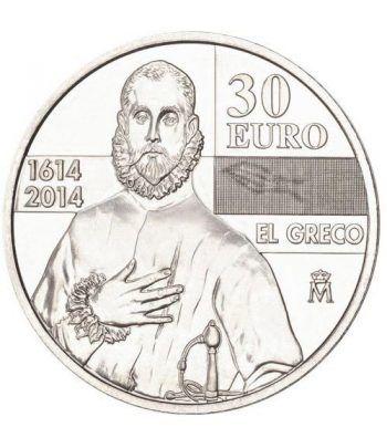 Moneda conmemorativa 30 euros 2014. IV Centenario de El Greco.  - 1