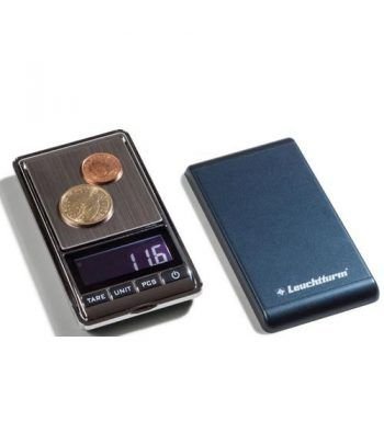 LEUCHTTURM Báscula digital LIBRA 100 para monedas (0,01-100gr).  - 1