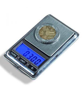 LEUCHTTURM Báscula digital LIBRA Mini para monedas (0,01-100gr)  - 1