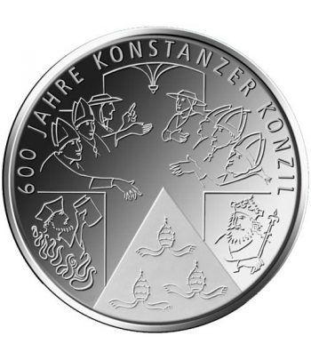 moneda Alemania 10 Euros 2014 F. Concilio Constanza.  - 1