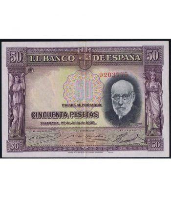 (1935/22/07) Madrid. 50 Pesetas EBC.  - 1