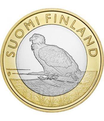 moneda Finlandia 5 Euros 2014. Animales. Aguila. Cuproniquel  - 1