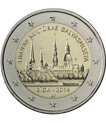 moneda conmemorativa 2 euros Letonia 2014.  - 2
