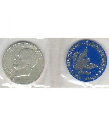 Moneda de plata 1$ Estados Unidos Eisenhower 1971. SC  - 1
